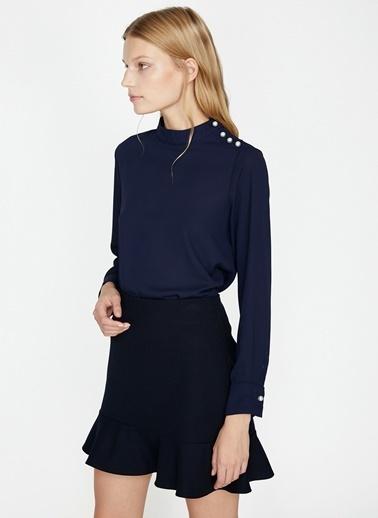 Koton Koton İnci Detay Lacivert Bluz Lacivert
